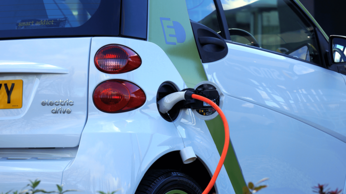 Electric vehicle charging - Photo by Mike Bird