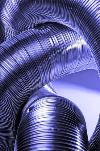 ventilation duct in blue light