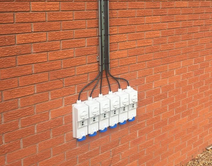 Outdoor RCD protected sockets